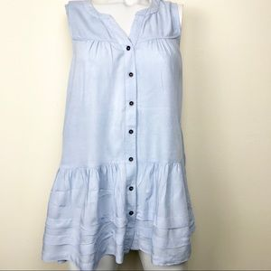 The Impeccable Pig Baby Blue Sleeveless Tunic | S